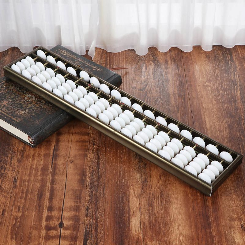 17 Digits Rods Soroban Standard Abacus Chinese Japanese Calculator Counting Tool Math Learning Beginners