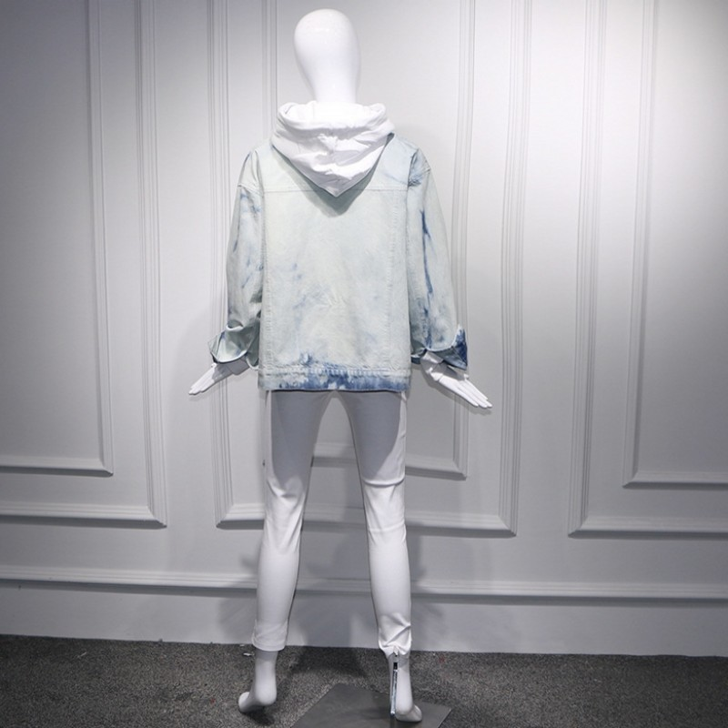 2020 New 3 Piece Sets Women Vintage Denim Jackets Coats Casual White Joggers Pants Long Sleeve Hoodies Ladies Fashion Streetwear