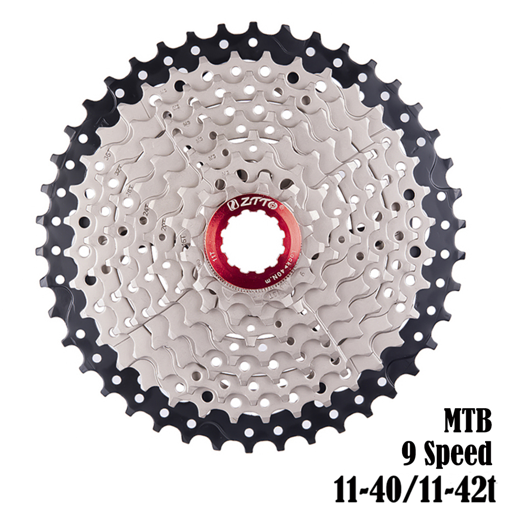 ZTTO MTB 9 Speed <font><b>Cassette</b></font> <font><b>11</b></font>-40t <font><b>11</b></font>- <font><b>42t</b></font> Wide Ratio Bicycle Freewheel Bike Sprockets For SH M430 M400 System image
