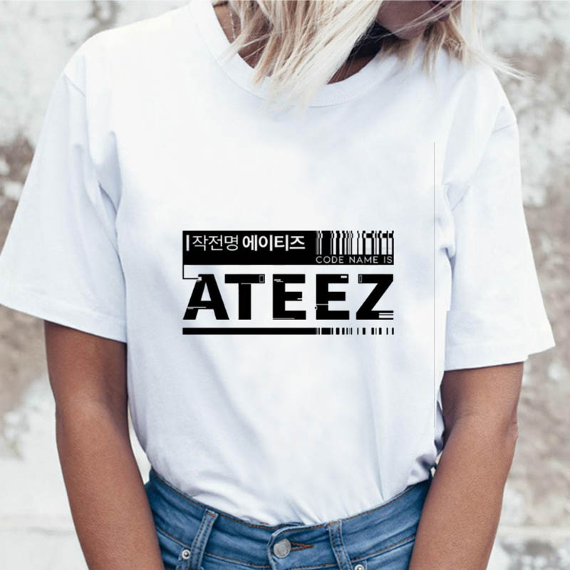 Multiple K-pop Blackpink Ateez T Shirt Women TXT Twice Tshirt Kpop Exo Boy With Luv Tees T-shirt Female Nct127