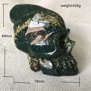 Натуральный морской нефрит КВАРЦЕВЫЙ Кристалл череп для продажи камни для дома декоративные Хэллоуин и DIY украшения подарок рейки