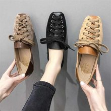 Women All-Match Retro Woman Shoes Flats British Style Casual Female Sneakers Spring Fashion Women's Shallow Mouth Oxfords