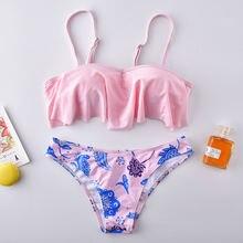 Roseheart весенний розовый сексуальный комплект бикини на бретелях