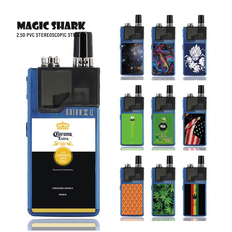 Magic Shark 2019 New Leaf Dragon Ball Sun Wukong USA Flag Star Sky Case Sticker Back Film Skin for Lost Vape Orion 088-099