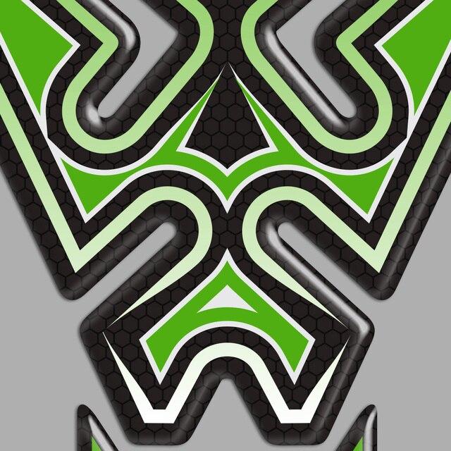 Autocollants de moto pour la Protection du réservoir pour Kawasaki Ninja ZX-6R ZX6R ZX 6R, carénages de Protection des panneaux latéraux, décalcomanies de lemblème Logo