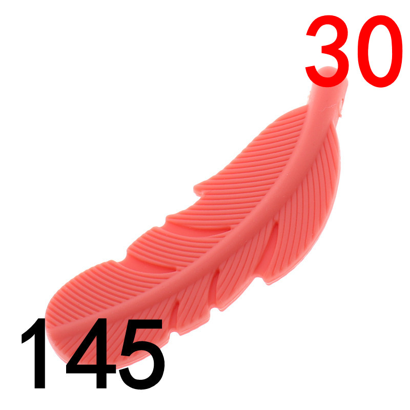 ATOB 30PCS Silicone Bite Beads Feather BPA Free Teether DIY Necklace Baby DIY Rodent Silicone Nursing Pendant Chewing Beads