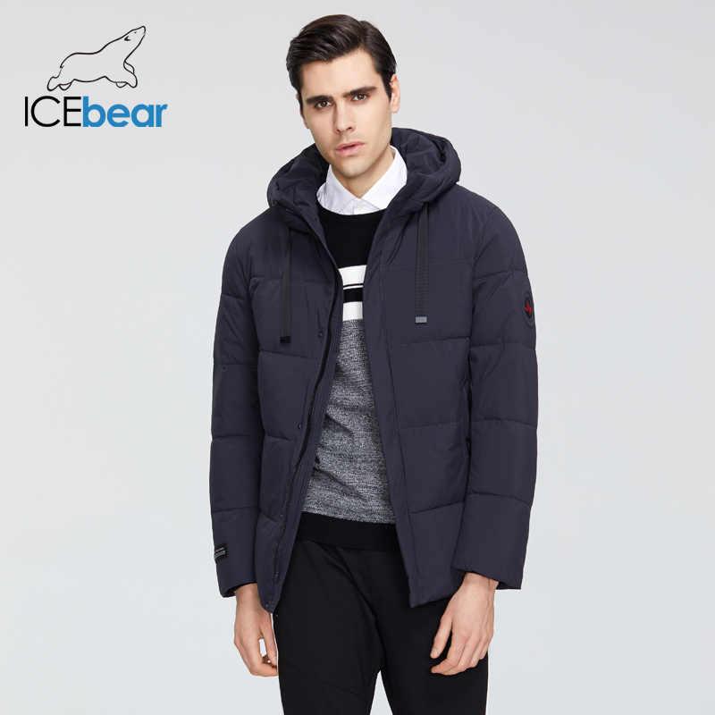 ICEbear 2019 새로운 남성 의류 고품질 남성 겨울 따뜻한 코트 브랜드 자 켓 MWD19851I