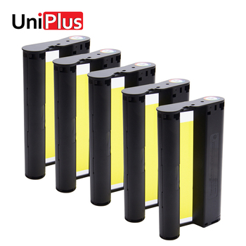 UniPlus 5pcs KP 36IN Ink Cassette Compatible for Canon Selphy Photo Printer CP1200 CP1300 CP910 CP900 Color Ink Paper Printing casual canvas handbags portable storage bag men women case for canon selphy cp910 900 1200 digital photo printer