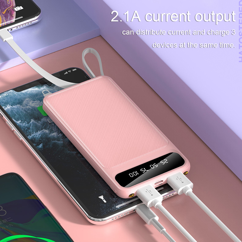 Portable 10000mAh Charging Power Bank For Xiaomi iPhone Samsung Mobile Phone 3