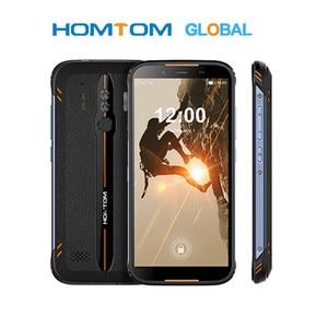"""Image 1 - Original homtom ht80 ip68 à prova dlágua smartphone 4g lte android 10 5.5 """"18:9 hd + mt6737 nfc carga sem fio sos telefone móvel"""
