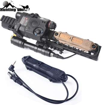 Tactical Remote Pressure Switch Dual Control Rat Tail Pressure for Hunting Airsoft PEQ-15 PEQ-16A DBAL 2 fit 20mm Picatinny Rail remote pressure switch scout weapon light tail dual button outdoor hunting led flashlight peq 16a m3x accessories wne04040