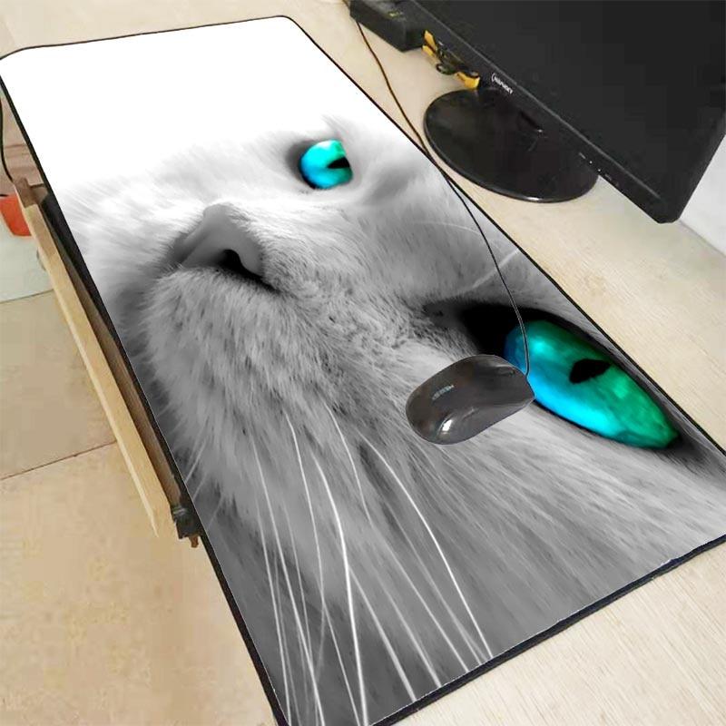 Xgz Kucing Putih Mata Biru Hewan Lucu Gamer Bermain Tikar Kecepatan Mousepad Besar Gaming Mouse Pad Penguncian Edge Mouse Mat Keyboard Pad Mouse Pads Aliexpress
