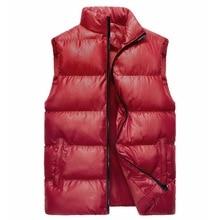 Down cotton waistcoat for men, leisure thickening men winter jacket