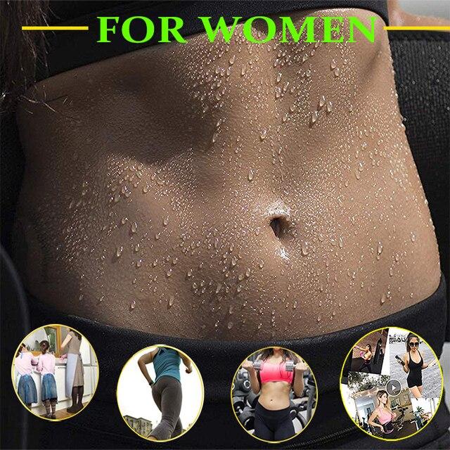 Women Neoprene Body Shapers Slimming Belt Waist Shaper Fat Burner Waist Trainer Weight Loss Tummy Control Workout Sauna Suit 1