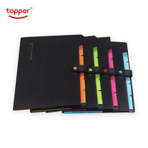 Wallet Folder Expanding File-Bag Filing-Products Office A4 Shool Elastic 6-Pckets PP