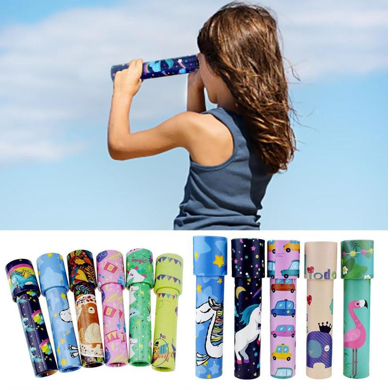 Classic Toys Kaleidoscope Rotating Magic Colorful World Toy For Children Autism Kids Puzzle Toy Gift Color Random Size S L