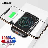 Baseus 10000mAh PD Carica Rapida 3.0 Mini Accumulatori e caricabatterie di riserva Portatile Qi Wireless Charger Powerbank Per il iPhone 11 Xiaomi Batteria Esterna