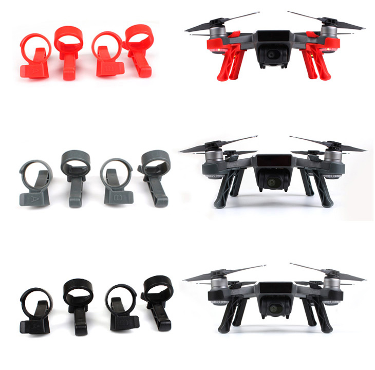 4PCS Landing Gear Kits For DJI Spark Drone Spare Parts Tripod Landing Legs Feet Protector Guard Spare Parts Quick Release Leg