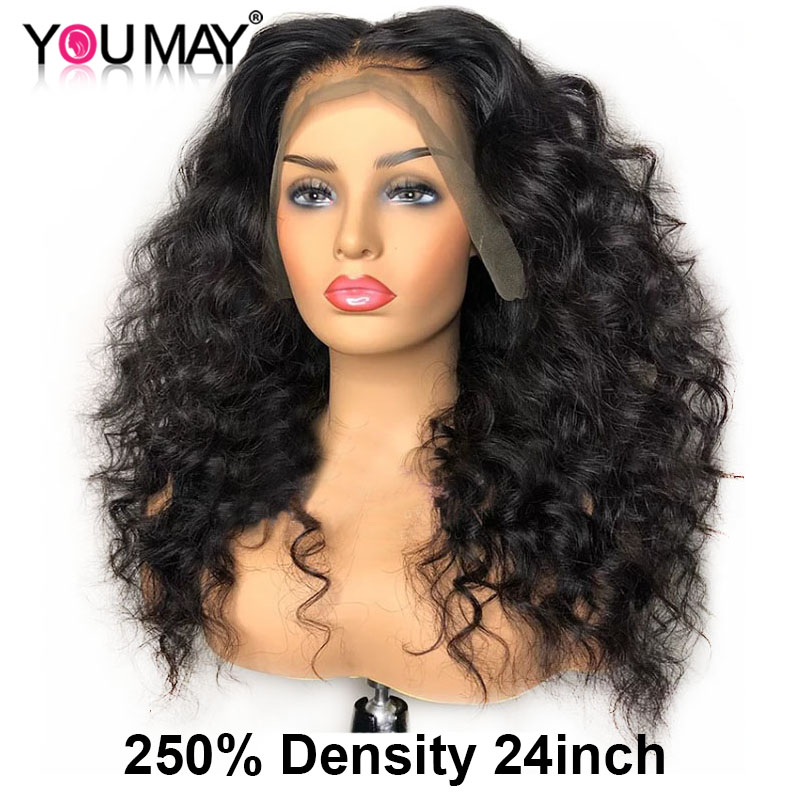 Loose Wave Wig 360 Lace Frontal Wig Brazilian 250 Density 13x6 Lace Front Human Hair Wigs 30 Inch Fake Scalp You May Full Hair