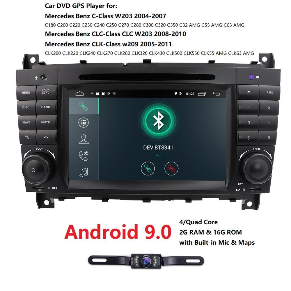 Autoradio multimédia 2 Din Android 9.0 GPS pour Mercedes mercedes-benz classe w203, Mercedes Benz CLC classe écran Na