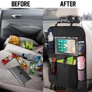 Image 4 - אוניברסלי רב כיס רכב אחסון מושב אחורי ארגונית מחזיק נוח עמיד למים נסיעות תיק Stowing לסדר אביזרי רכב