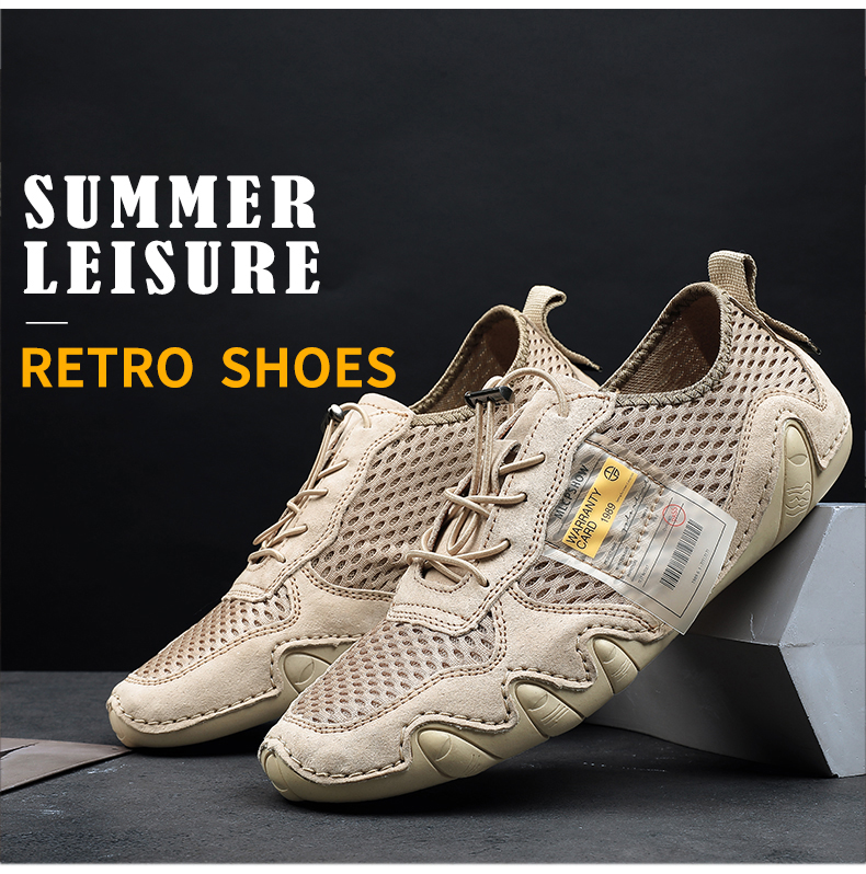 Suede Genuine Leather Shoes Men Loafers Classic Octopus Casual Leather Men Shoes Quality Men Flats Walking Lace-Up Man Footwear