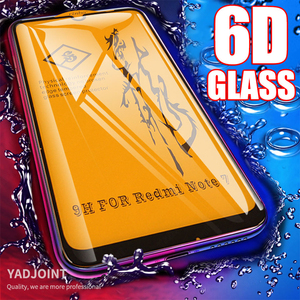 6D Full Cover Tempered Glass For Xiaomi Pocophone F1 Mi 9T 8 A2 Lite A3 Redmi Note 9S 8 Pro Max 8T 7 K30 Glass Screen Protector(China)