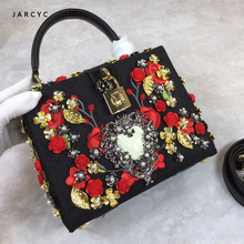 Goddess!Luxury Brand Rivet Lady Bag Genuine Cow Leather Messenger Bags Embroidery Flower Pearl Women Handbag Famous Designer Sac