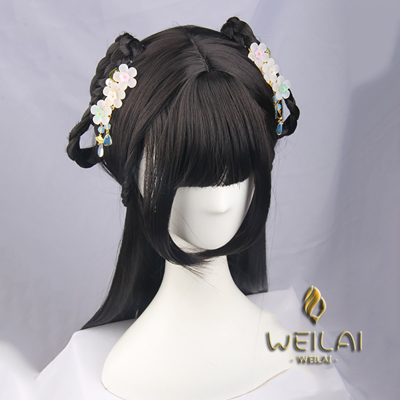 WEILAI Girls edition Vintage Wigs for Women Han Dynasty Ancient Style Wig Ancient Costume Versatile Daily Used Custom wig