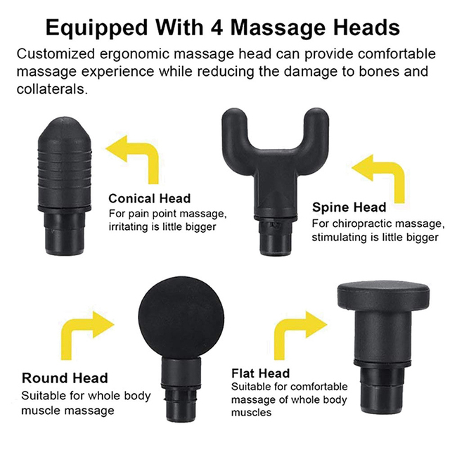 Portable Electronic Therapy Muscle Massage Gun Body Relaxation Pain Relief Massager High Frequency Vibration Massage The 6 Mode