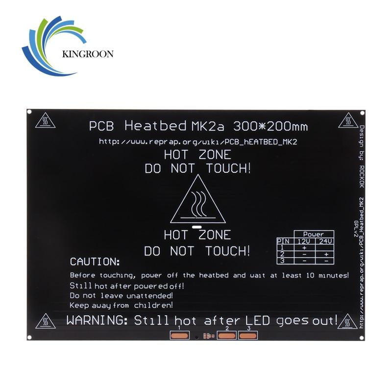 KingRoon 3D Printer Parts Accessories PCB MK2B Aluminum Heatbed 300*200*3mm Aluminum Plate