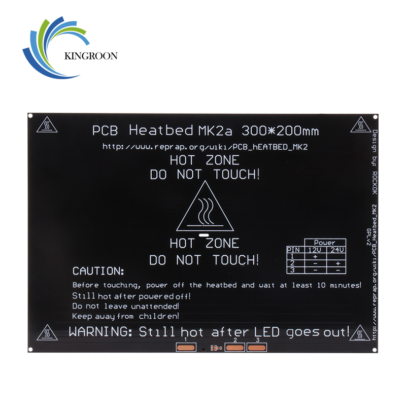 KingRoon Upgraded MK2A <font><b>heatbed</b></font> 3D Printer Parts Accessories PCB Aluminum <font><b>Heatbed</b></font> <font><b>300*200</b></font>*3mm MK2B Aluminum Plate impressora 3d image