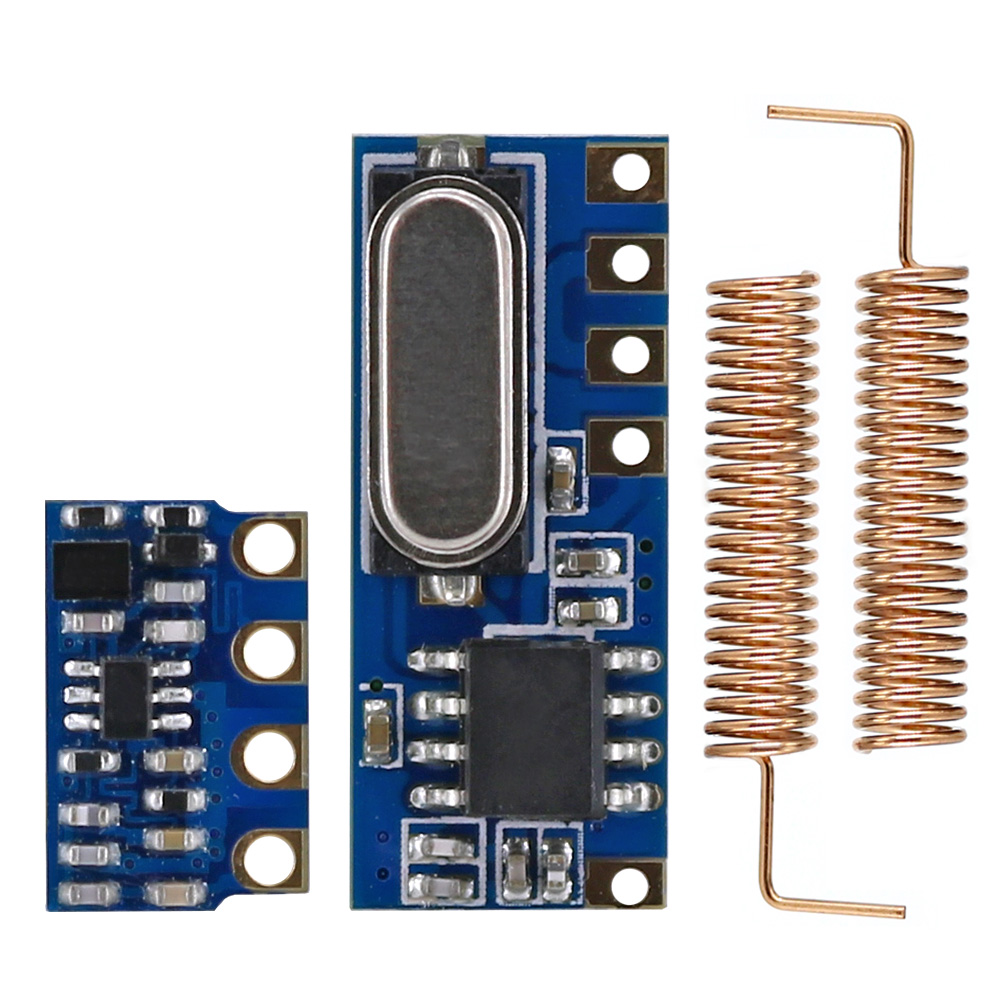 OPEN-SMART Long Range 433MHz Wireless Transceiver Kit Mini RF Transmitter Receiver Module + 2PCS Spring Antennas For Arduino