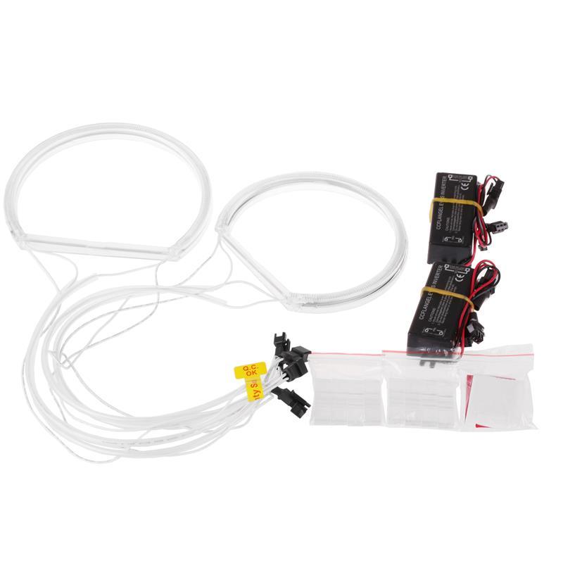 Image 3 - CCFL phare tubulaire Flexible 4 pièces  Ange Eagle Eyes, lumière blanche pour BMW E36 3 E38 7 E39 5 E46 (131*2 + 146*2), nouvelle collectionAccessoires pour feux de voiture   -