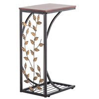 Leaf Pattern Iron Side Table Coffee Mini living room bed movable sofa small table corner several side table lazy coffee table