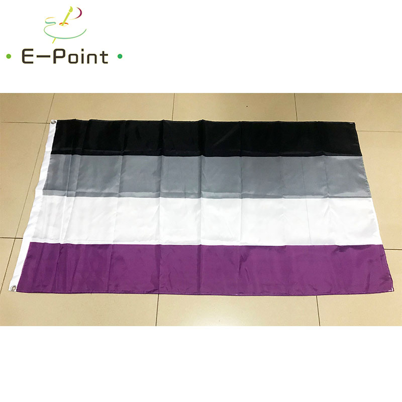 <font><b>Asexual</b></font> <font><b>Pride</b></font> <font><b>Flag</b></font> 2*3ft (60*90cm) 3*5ft (90*150cm) Size Christmas Decorations for Home and Garden image