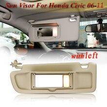 Esquerda/direita carro lhd sun visor motorista/passageiro lado pára-sol protetor solar com luz para honda para civic 2006-2011 83280-sna-a01za