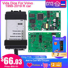 Адаптер Vida Dice 2015A + для V olvo Car, диагностический инструмент 1999 2019, полный чип, зеленая плата, OBD Автомобильный сканер для v olvo Vida Dice