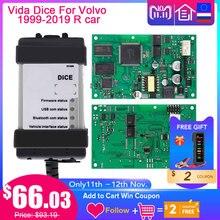 Vida Dice 2015A + llave electrónica para v olvo Car, herramienta de diagnóstico Chip completo, escáner OBD para v olvo life Dice, tablero verde