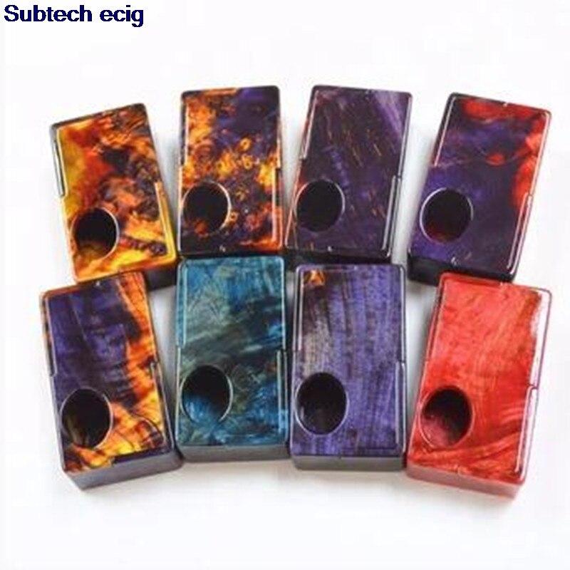Original Yiloong stabilisé bois chargeur inférieur Squonk boîte mécanique Mod 1x18650/20700 batterie Squonk boîte Mod Mech mod vape