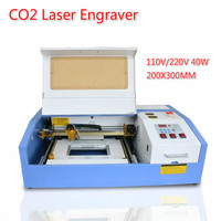 Portable Desktop CNC Laser Engraver CO2 Engraving Machine 110/220V 40W 200*300mm Cutter 3020 Laser Cutting Machine with USB Port