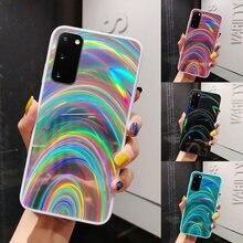 Lovecom luxo colorido arco-íris laser espelho caso telefone para huawei p40 lite p30 p20 lite pro mate 30 20 lite pro capa traseira macia