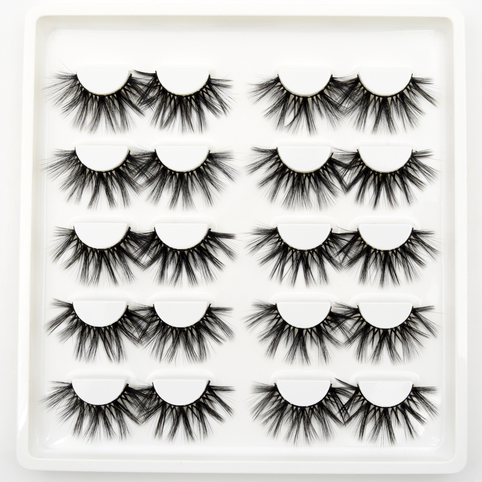 10 Pairs Eyelashes Wholesale Handmade Mink Eyelashes 3d Mink Hair Lashes Dramatic Lashes Makeup 3d High Volume False Eyelashes