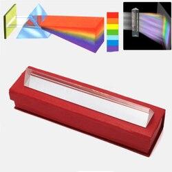 Nowe tęczowe szkło optyczne odbijające potrójny pryzmat do nauczania fizyki spektrum światła kolor pryzmat 50*30*30*30mm w Pryzmaty od Narzędzia na