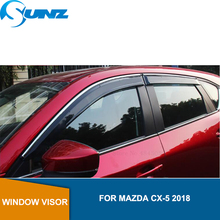 Window Shield Cover For MAZDA CX-5  2018 Window Air Vent Visor Sun Shade Awnings Shelters Guards For MAZDA CX-5  2018 SUNZ