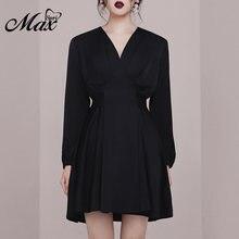 Женское вечернее платье max spri маленькое черное облегающее