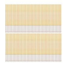100 Pcs Spring Test Probe Pogo Pin P100-E2 Dia 1.36mm Length 33.3mm