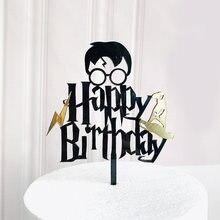 Adorno acrílico para pastel de niño de dibujos animados, adorno acrílico para pastel de feliz cumpleaños, adornos de pastel de fiesta para Baby Shower