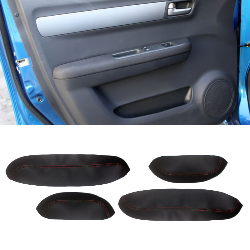 For Suzuki Swift 2005 2006 2007 2008 2009 2010 2011 2012 Car Door Handle Armrest Panel Microfiber Leather Cover Protective Trim