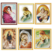 Madonna and Child series Pattern Count Cross Stitch Kit 11CT 14CT Needlework Embroidery Religious Character Decorative Painting